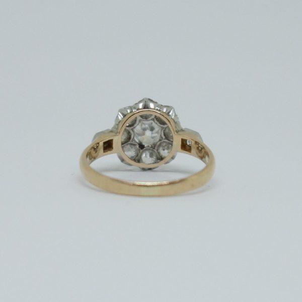bague or et platine avec diamants