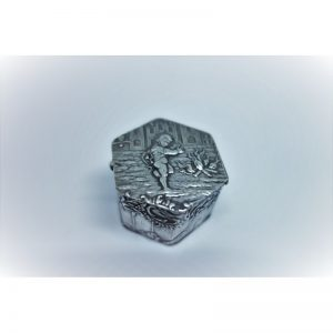 petite boîte argent hexagonale