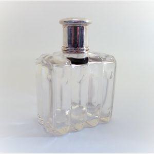 flacon parfum argent et cristal art déco