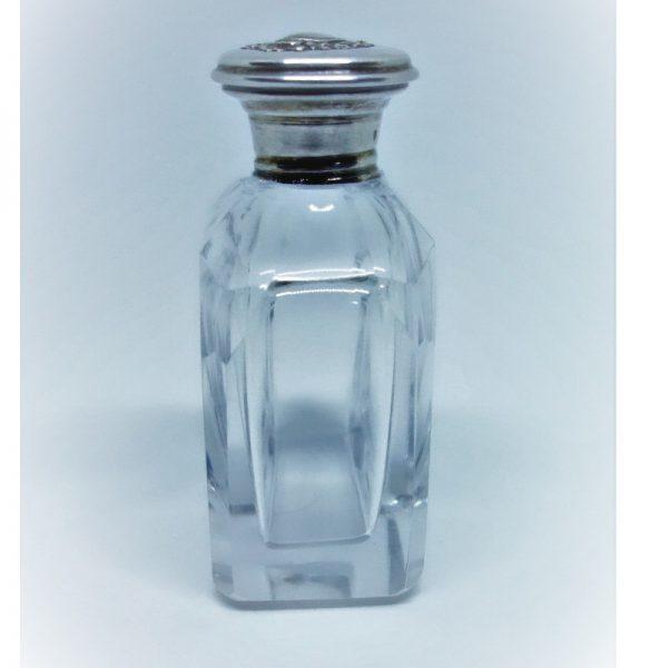 flacon à parfum cristal et argent