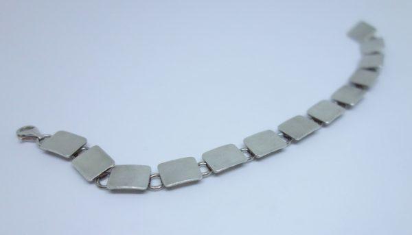 maillon carré bracelet argent vintage
