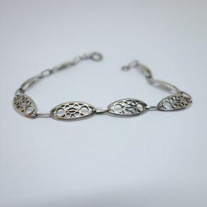 bracelet argent maille olive