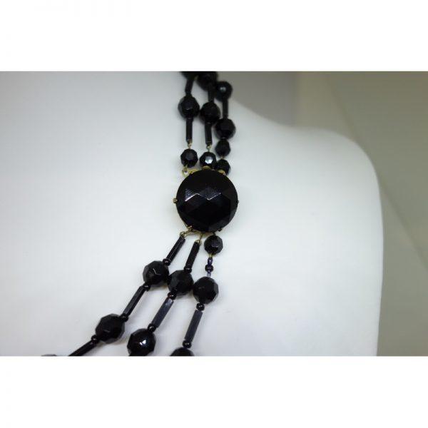 collier ancien trois rangs