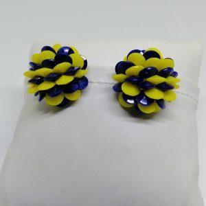 boucles d'oreilles clip bicolore