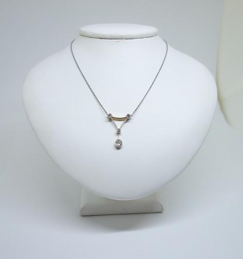 collier art déco avec diamants