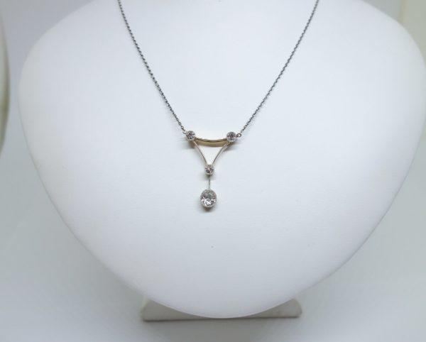 coliier art déco avec diamants