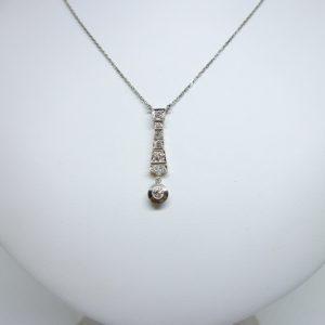 collier art déco or et diamants