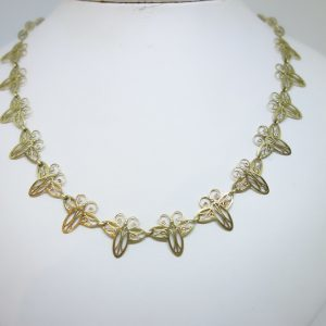 collier or papillons