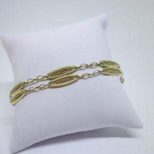 bracelet or filigrané