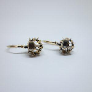 boucles d'oreilles dormeuse avec diamants