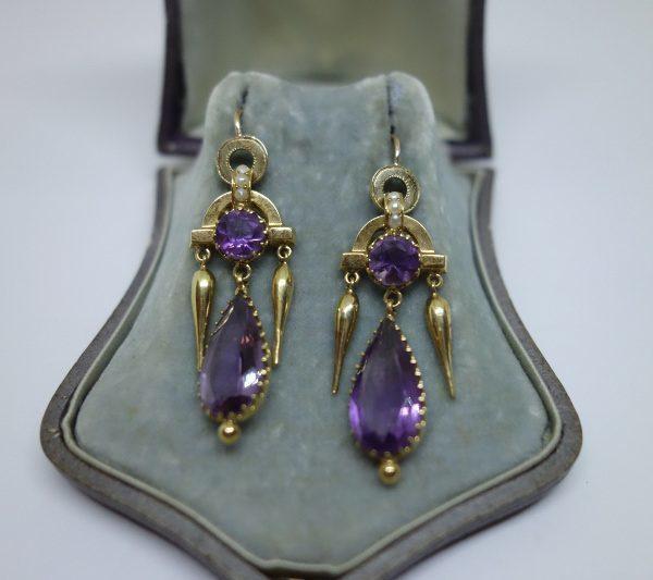 boucles d'oreilles pendante orientaliste en or