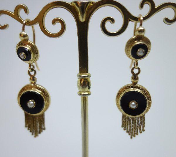 boucles d'oreilles or napoléon III