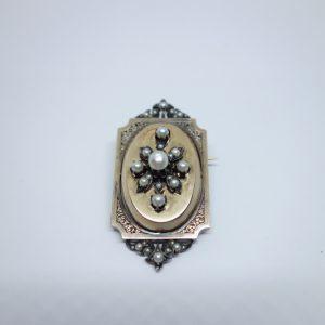broche or milieu 19ième siècle