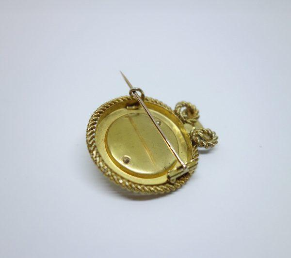 broche or demi-perles fines 19ième siècle