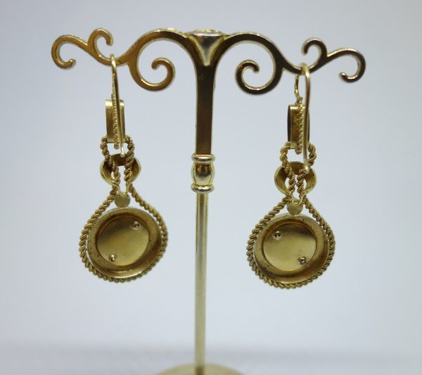 boucles d'oreilles pendantes or