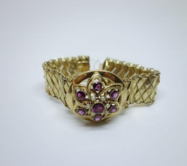 bracelet or et grenats napoléon III