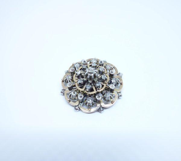pendentif en or rose et diamants