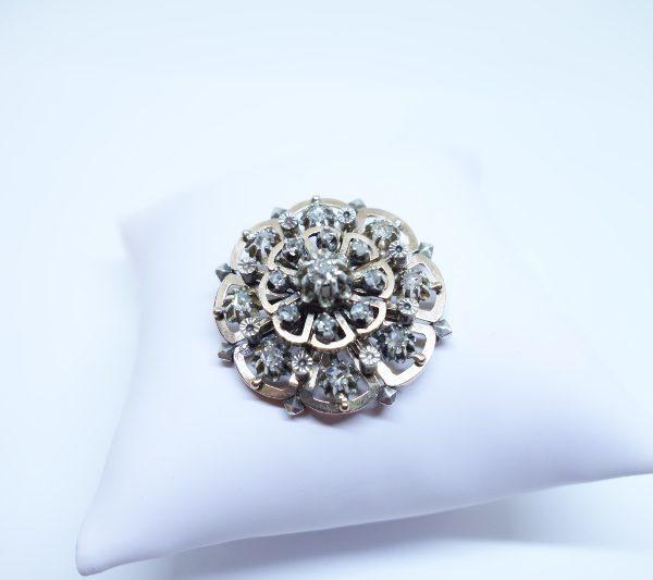pendentif or rose et diamants