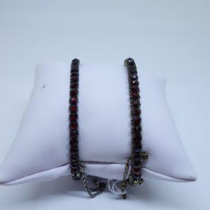 bracelet pomponne et grenats