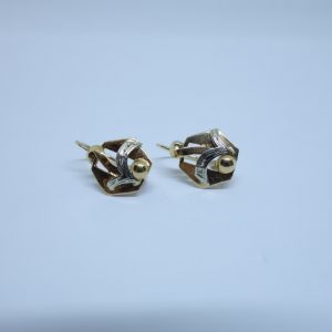 boucles d'oreille or bicolore