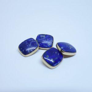 boutons de manchettes or et lapis-lazuli