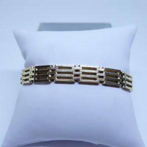 bracelet or maillon grille