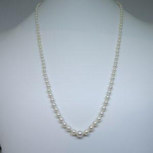 long collier en perles de culture et fermoir or