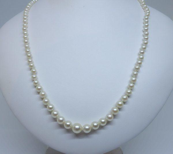 collier perle de culture en chute