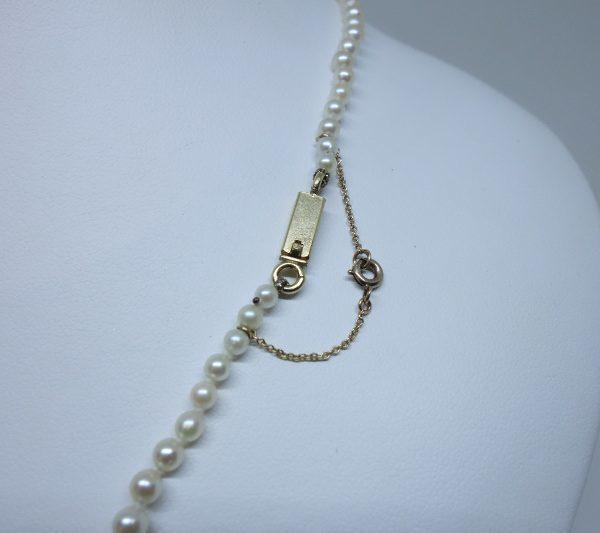 collier chute de perles de culture