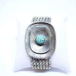 bracelet argent signé Perli