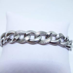bracelet argent rhodié maillon particulier