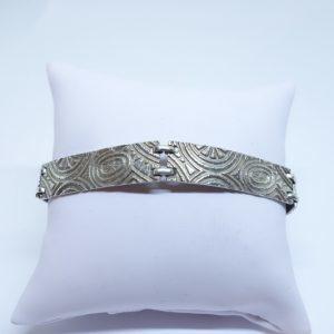 bracelet argent maillon rectangulaire