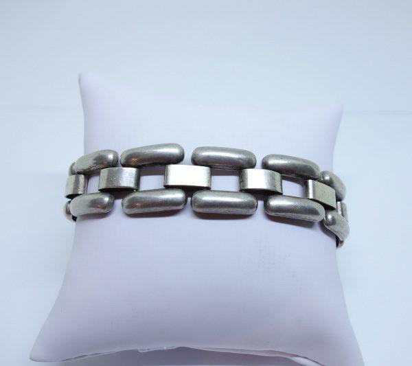bracelet argent art déco