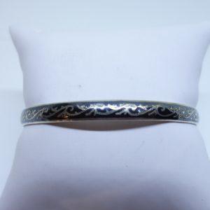 petit bracelet argent niellé