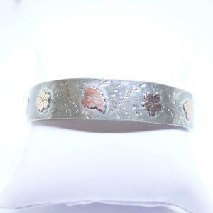 bracelet argent ancien bicolore