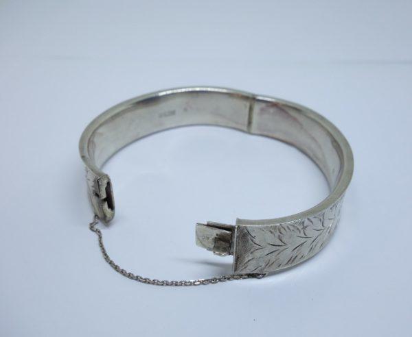 bracelet argent jonc anglais