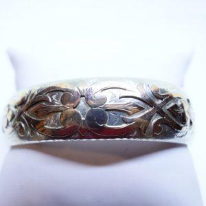 bracelet jonc argent bicolore arabesques