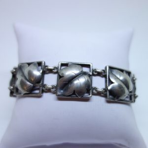 bracelet argent modèle art déco