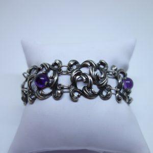 bracelet art nouveau avec améthystes