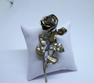 broche fleur vermeil art nouveau
