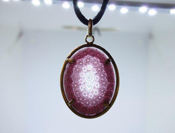 pendentif argent vermeil verre Murano