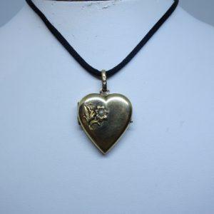 pendentif coeur plaqué or porte-photo