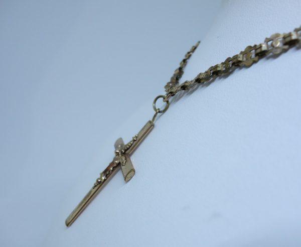 chaîne et croix pomponne fin 19ième siècle