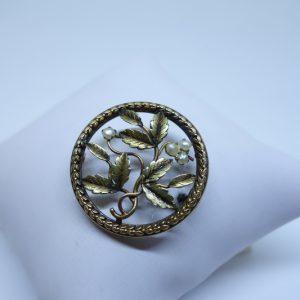 broche plaqué or art nouveau marque Fix