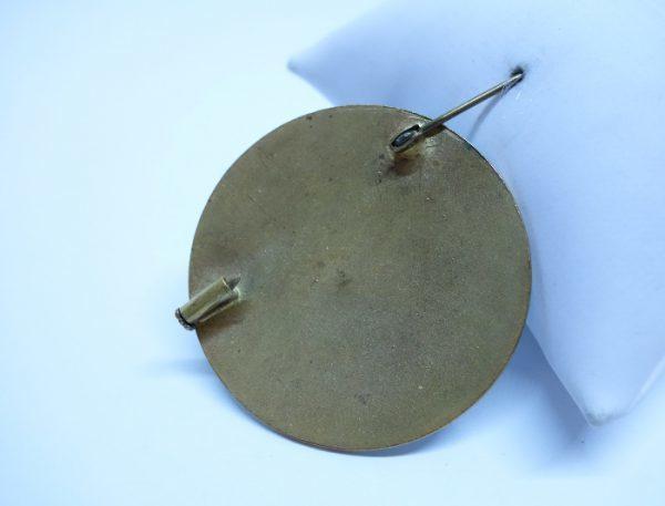 broche laiton émaillée ancienne 1920