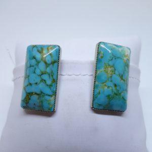 clip d'oreilles imitation turquoise