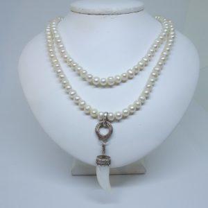 collier perles eau douce et argent Thomas Sabo