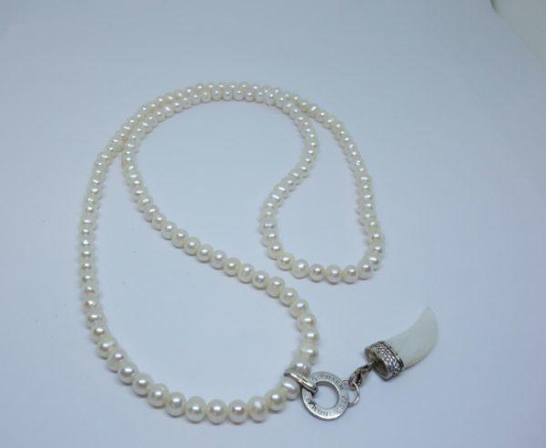 collier de perles d'eau douce et argent Thomas Sabo