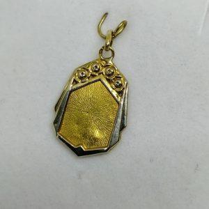 pendentif en or bicolore art déco