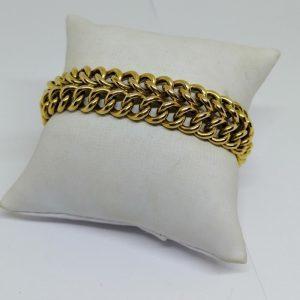 bracelet plaqué or signé Fix 1940-50
